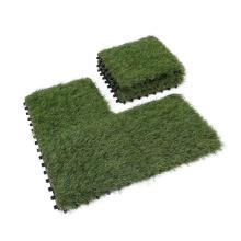 anti fading UV Resistant artificial grass synthetic turf interlocking DIY tile  mat 30*30