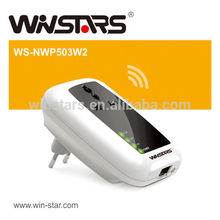 500Mbps Wireless Powerline Adapter with AC Pass Through Up to 300 meter range