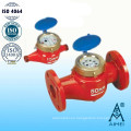 Paleta rotatoria Multi Jet mojado tipo de medidor de agua caliente