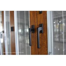 Design italiano de luxo de borracha selado portas de alumínio e janelas