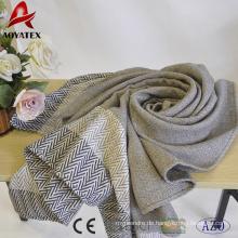 Günstigen Preis 100% Acryl gewebt Decke mit Quaste