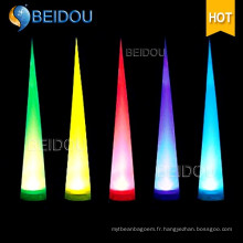 Piliers gonflables à l'arc Tuyaux à l'ivoire Tubes à air Cones allumés LED