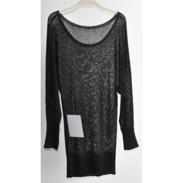 Senhoras em torno do pescoço cor pura pullover knit sweater