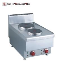 Shinelong High Quality Restaurant Counter Top Mini Cook 2 Fogão Fogão Elétrico