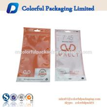 Las bolsas de plástico para el embalaje tapones para los oídos / batería / cargador con cremallera / Euro agujero