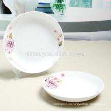 placa de sopa de porcelana barata