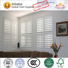 New Design with Superior Quality of Competitive Price CustomizedWhite Coated Plantation Shutters Basswood