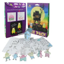 craft 3D puzzle halloween pintura kids value mix set