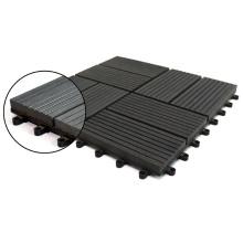 Anti Slip DIY Garden Floor Wood Tiles Outdoor Waterproof Interlocking Deck Tiles Engineered Wood Floor Composite WPC Patio Tile