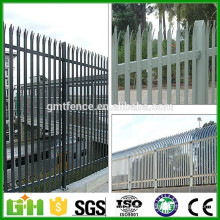 PVC Coated Steel Palisade Metal Fence