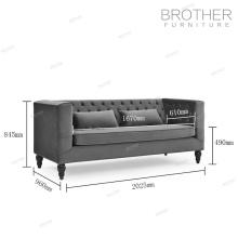 klassische Sofa Stuhl Wohnzimmer samt Chesterfield Sofa