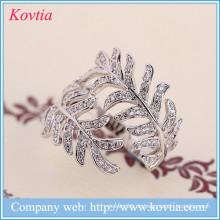 Luxus Schmucksachen cz Diamant Mimosen Ringe Aliexpress Sterling Splitter Ring