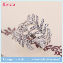 Luxury jewelry findings cz diamond mimosa rings aliexpress sterling sliver ring