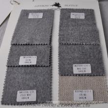 Tela de la ropa de mezcla de cachemira de lana de color gris