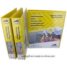 """Personalizado impressão 2 """"A4 PVC pasta de arquivos PP com 2 D Ring Binder"""