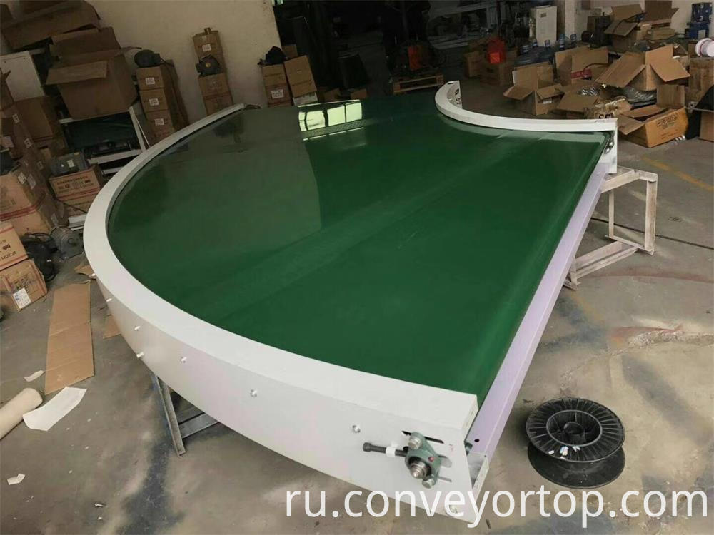 180 Degree Conveyor Table