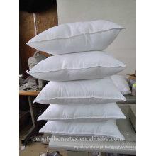 Almofada de venda quente tecido de poliéster branco tingido110 gsm