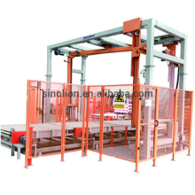 Rotary arm wrapper Top sheet dispenser packaging line
