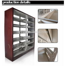 6 layers modern wooden library bookshelf / plexiglass book shelf