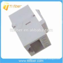 White Color Cat6 Inline Coupler 8p8c RJ45 Connector