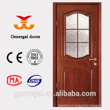 CE European Style Grid Glass Wooden Door