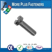 Made in Taiwan Medium Carbon Steel Slotted Cheese Head Machine Screw ISO 1207