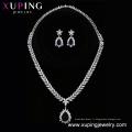 set-222 Xuping mariage alliage de zinc bijoux couleur argent ensemble de mariée, boucle d'oreille et collier femmes bijoux ensemble