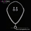 set-222 Xuping zinc alloy wedding jewelry silver color bridal set, earring and necklace women fashion jewelry set