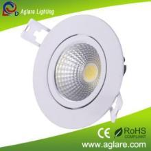 White paint indoor COB 15W LED downlight