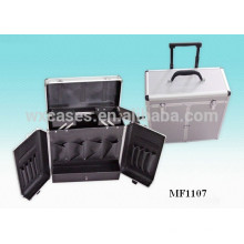 caja de la carretilla de aluminio peluquería con 2 ruedas y una manija extensible