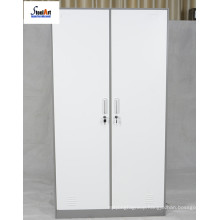 2 doors metal filing wardrobe cabinet school furniture