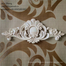 Madera maciza estilo y adornos alemanes de madera onlays