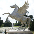 Caballo de bronce de decoración de parque de alta calidad con estatua de alas