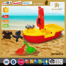 Hot item sand beach toys pirate ship with plastic shovel