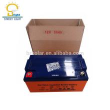 Bateria livre da manutenção, gel da bateria 90Ah solar, com CE, ROHS