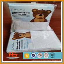 100% хлопок детская кроватка водонепроницаемый наматрасник оптом