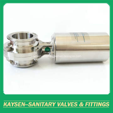 Hygienic Pneumatic Butterfly Valves Clamped 3A/SMS/ISO/IDF