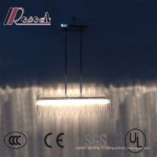 Plafonnier décoratif de tube en verre de LED d'hôtel moderne