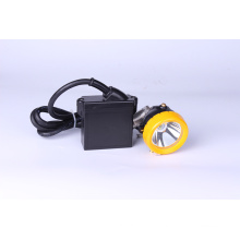 All-In-One Miner's Cap Lâmpada 3W KL5LM, impermeável IP68 LED Miner Headlamp com carregador inteligente e carregador de carro