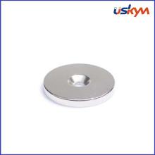 Кольцо с потайной зенковкой - неодимовый магнит на редкоземельных элементах