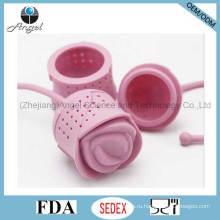 Валентин в розовых цветов Силиконовый чай Infuser инструмент St11