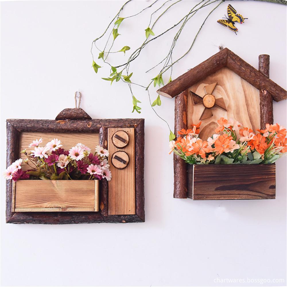 wooden flowerpot haing