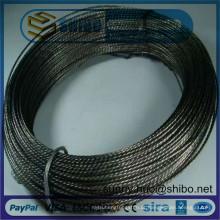 A pureza alta encalhou o fio do parafuso do tungstênio, filamento do tungstênio