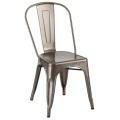 Tolix Metal Transparent Powder Coating Steel Chair