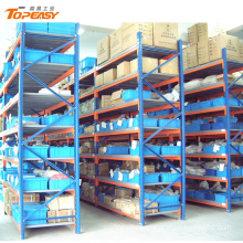 medium duty powder coated steel rack shelf for spare parts