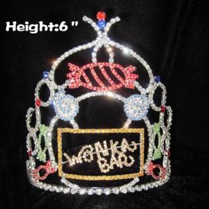 6 pulgadas de altura Wonka Bar Coronas de caramelo personalizadas
