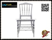 Modern designer tiffany beautiful PC side clear plastic chair with high back