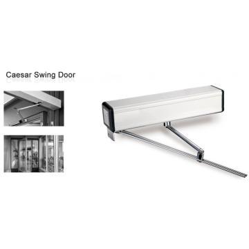 Door mechanism for double automatic swing door opener