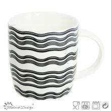Waves Design New Bone China Mug