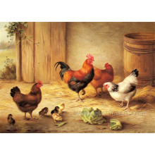 Hand Painted Wall Decorative Animal Oil Painting